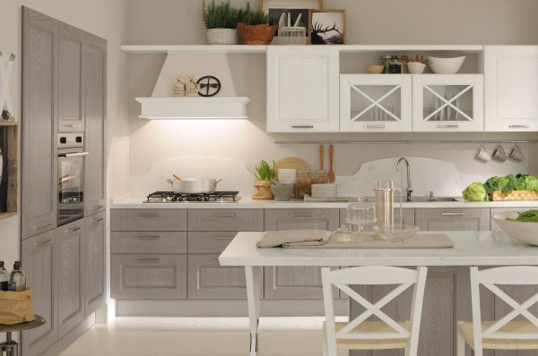cucina agnese grigio bianco lube