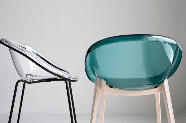 sedia in legno e policarbonato calligaris