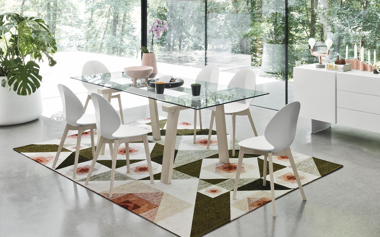 tavolo allungabile legno, metallo e vetro calligaris - Moby arredamenti
