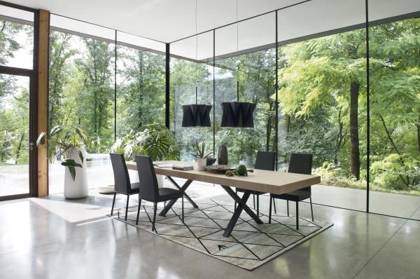 tavolo rettangolare allungabile in legno calligaris