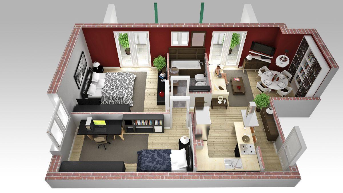 Progettazione Casa 3d : Progettazione in d gratuita degli spazi e dell ambiente moby