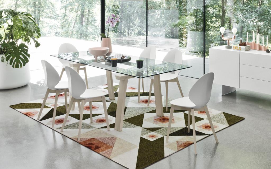 Vendita tavoli allungabili brescia - Tavolo vetro allungabile calligaris ...