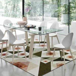 tavolo allungabile legno, metallo e vetro calligaris
