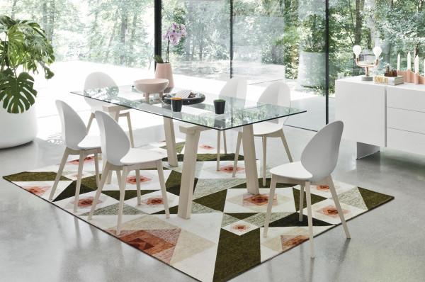 vendita tavolo allungabile legno, metallo e vetro calligaris